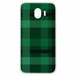 Чохол для Samsung J4 Зелений в клітку - FatLine