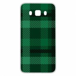 Чохол для Samsung J5 2016 Зелений в клітку - FatLine