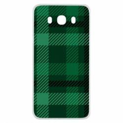 Чохол для Samsung J7 2016 Зелений в клітку - FatLine