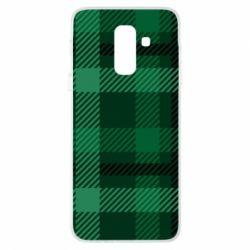 Чохол для Samsung A6+ 2018 Зелений в клітку - FatLine