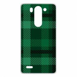 Чохол для LG G3 Mini/G3s Зелений в клітку - FatLine