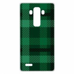 Чохол для LG G4 Зелений в клітку - FatLine