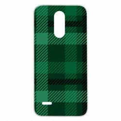 Чохол для LG K8 2017 Зелений в клітку - FatLine