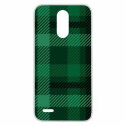 Чохол для LG K10 2017 Зелений в клітку - FatLine