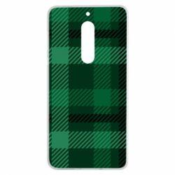 Чохол для Nokia 5 Зелений в клітку - FatLine