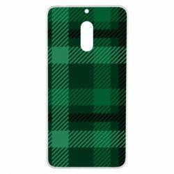 Чохол для Nokia 6 Зелений в клітку - FatLine