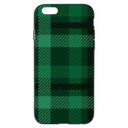 Чохол для iPhone 6/6S Зелений в клітку - FatLine