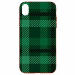 Чохол для iPhone XR Зелений в клітку - FatLine