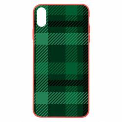 Чохол для iPhone Xs Max Зелений в клітку - FatLine