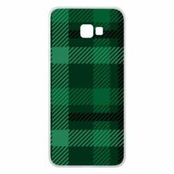 Чохол для Samsung J4 Plus 2018 Зелений в клітку - FatLine