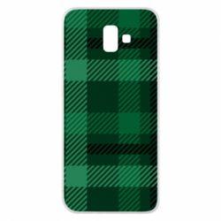 Чохол для Samsung J6 Plus 2018 Зелений в клітку - FatLine