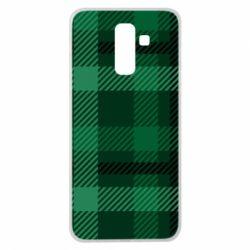 Чохол для Samsung J8 2018 Зелений в клітку - FatLine