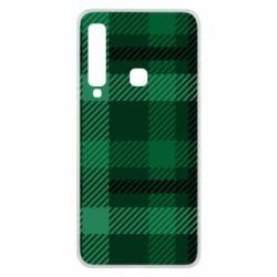 Чохол для Samsung A9 2018 Зелений в клітку - FatLine