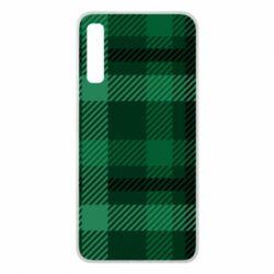 Чохол для Samsung A7 2018 Зелений в клітку - FatLine