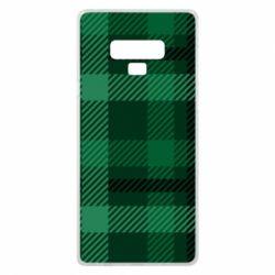 Чохол для Samsung Note 9 Зелений в клітку - FatLine