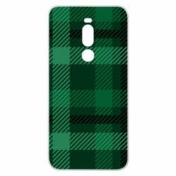 Чохол для Meizu Note 8 Зелений в клітку - FatLine