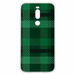 Чохол для Meizu X8 Зелений в клітку - FatLine