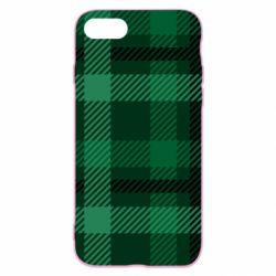 Чохол для iPhone 7 Зелений в клітку - FatLine