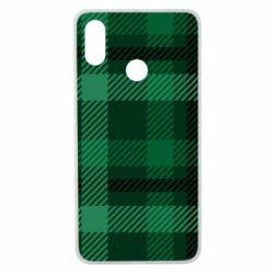 Чохол для Xiaomi Mi Max 3 Зелений в клітку - FatLine