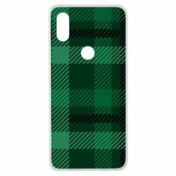 Чохол для Xiaomi Mi Mix 3 Зелений в клітку - FatLine