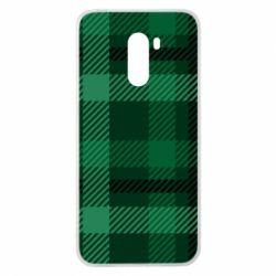 Чохол для Xiaomi Pocophone F1 Зелений в клітку - FatLine
