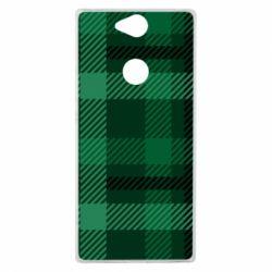Чохол для Sony Xperia XA2 Plus Зелений в клітку - FatLine