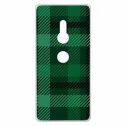 Чохол для Sony Xperia XZ2 Зелений в клітку - FatLine