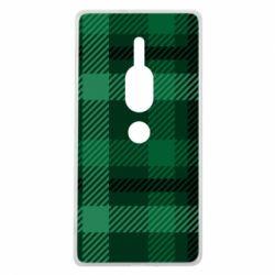 Чохол для Sony Xperia XZ2 Premium Зелений в клітку - FatLine
