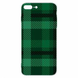 Чохол для iPhone 7 Plus Зелений в клітку - FatLine