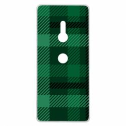 Чохол для Sony Xperia XZ3 Зелений в клітку - FatLine