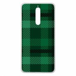 Чохол для Nokia 8 Зелений в клітку - FatLine