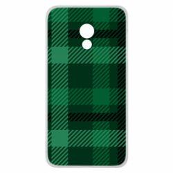 Чохол для Meizu 15 Lite Зелений в клітку - FatLine