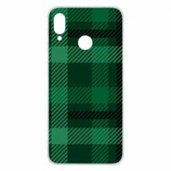 Чохол для Huawei P Smart Plus Зелений в клітку - FatLine