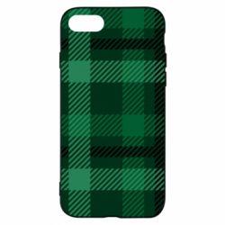 Чохол для iPhone 8 Зелений в клітку - FatLine