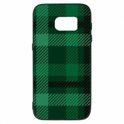 Чохол для Samsung S7 Зелений в клітку - FatLine