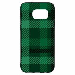 Чохол для Samsung S7 EDGE Зелений в клітку - FatLine