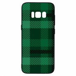 Чохол для Samsung S8 Зелений в клітку - FatLine