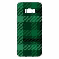 Чохол для Samsung S8+ Зелений в клітку - FatLine