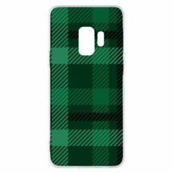 Чохол для Samsung S9 Зелений в клітку - FatLine