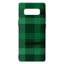 Чохол для Samsung Note 8 Зелений в клітку - FatLine