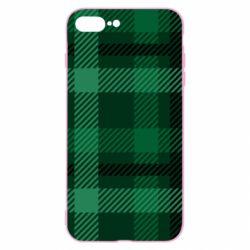 Чохол для iPhone 8 Plus Зелений в клітку - FatLine