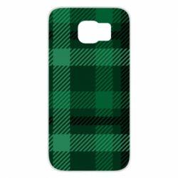 Чохол для Samsung S6 Зелений в клітку - FatLine