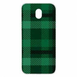 Чохол для Samsung J5 2017 Зелений в клітку - FatLine