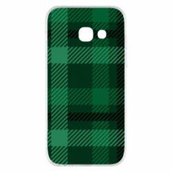 Чохол для Samsung A3 2017 Зелений в клітку - FatLine