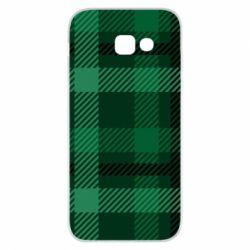 Чохол для Samsung A5 2017 Зелений в клітку - FatLine