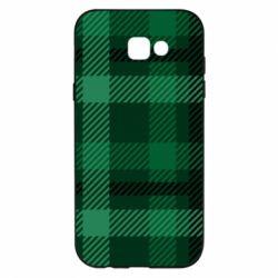 Чохол для Samsung A7 2017 Зелений в клітку - FatLine