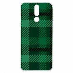 Чохол для Huawei Mate 10 Lite Зелений в клітку - FatLine