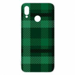 Чохол для Huawei P20 Lite Зелений в клітку - FatLine