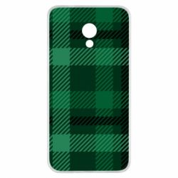 Чохол для Meizu M5s Зелений в клітку - FatLine