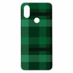 Чохол для Xiaomi Mi A2 Зелений в клітку - FatLine
